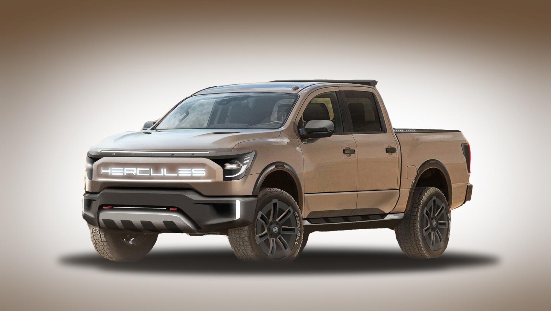 Nissan titan. Само слово Hercules в автоиндустрии уже встречалось, так фирма Rezvani недавно назвала свой трёхосный пикап, а компания Leap — силовую установку.