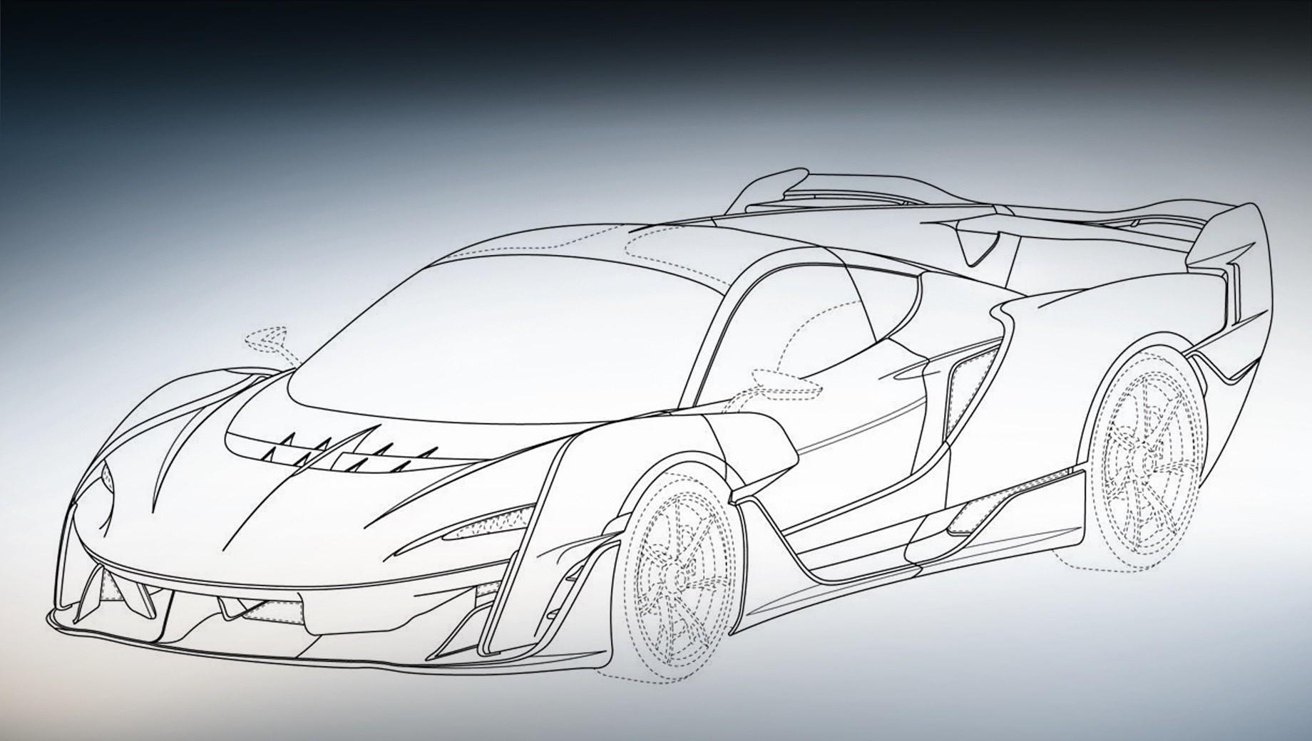 McLaren Sabre окажется бензоэлектрическим гиперкаром