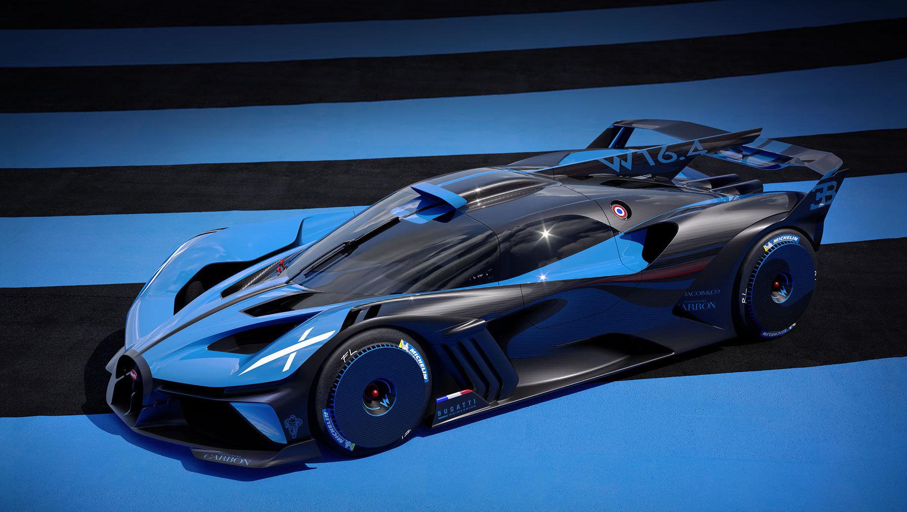 Bugatti bolide. Внешне и не скажешь, что машина является родственницей Широна и его многочисленных вариаций. Однако технически они близки.