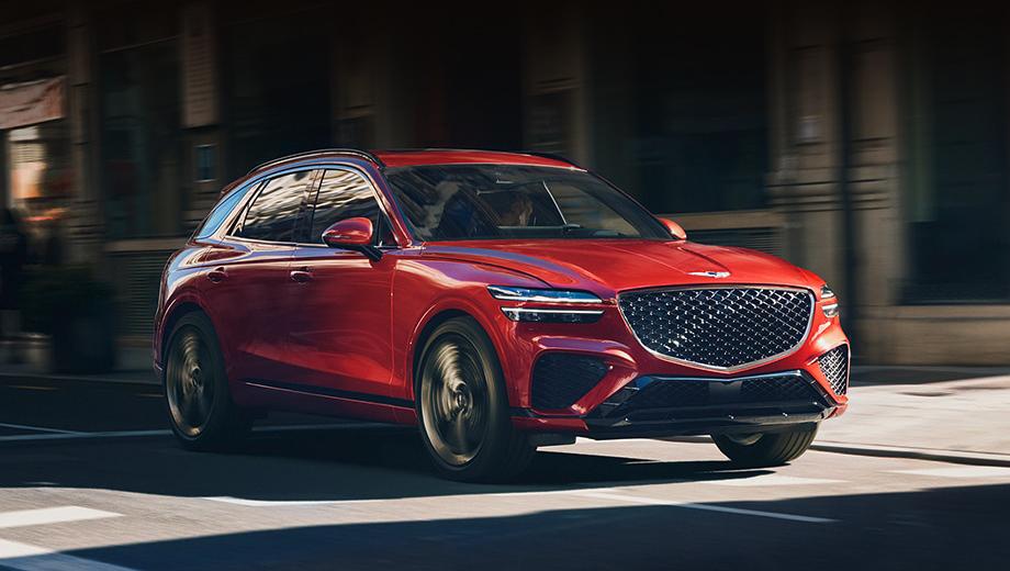 Genesis gv70. Для кузова предусмотрено 13 цветов, из них три новых (Mauna Red, «металлик» и матовый Barossa Burgundy). Колёсные диски — от 18 до 21 дюйма.