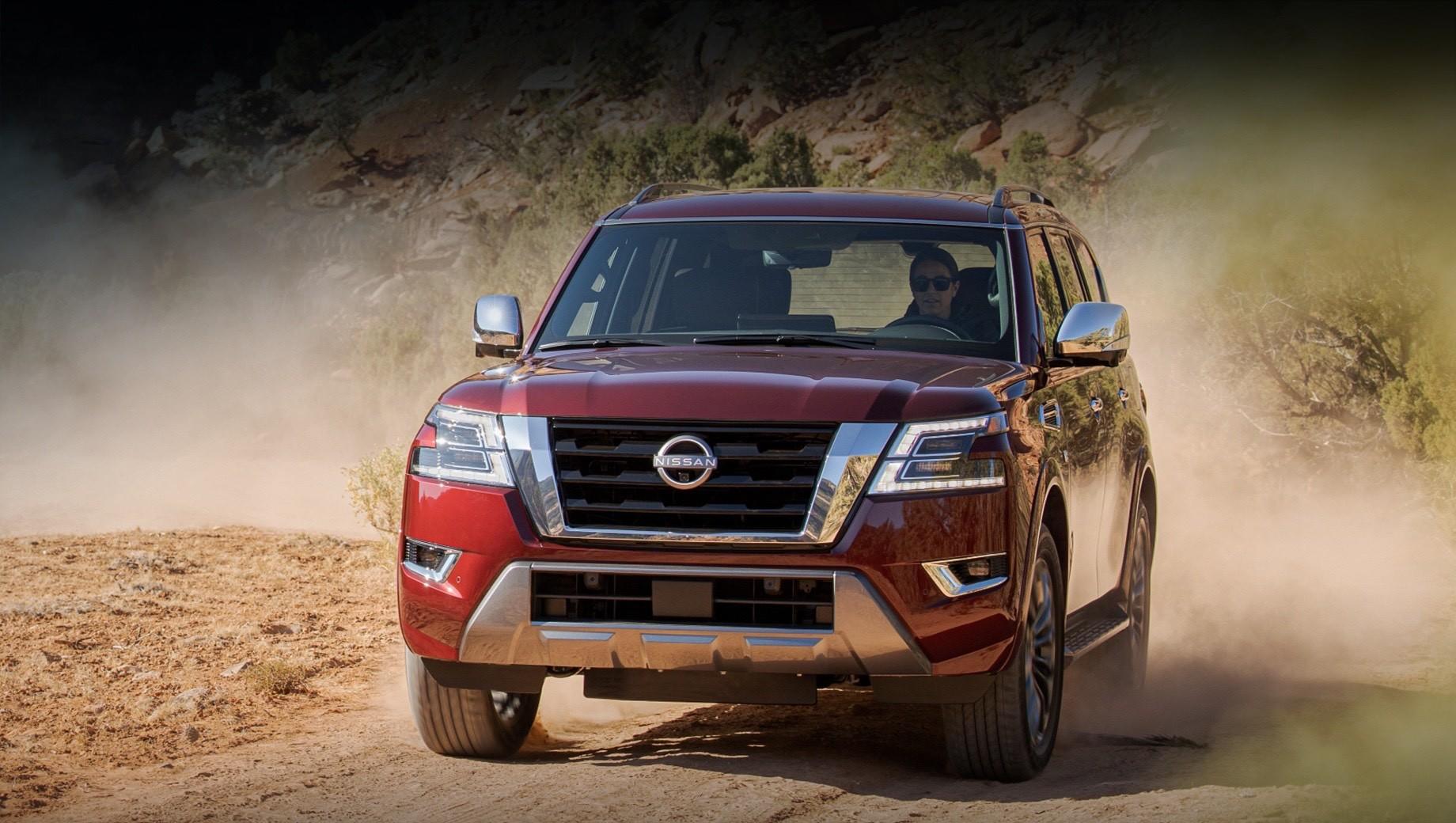Nissan armada,Nissan patrol. Все Армады оснащаются комплексом Nissan Safety Shield 360, в который входят адаптивный круиз-контроль, работающий на любой скорости, системы автоторможения с детекцией пешеходов, слежения за слепыми зонами, удержания в полосе движения и мониторинга состояния водителя.