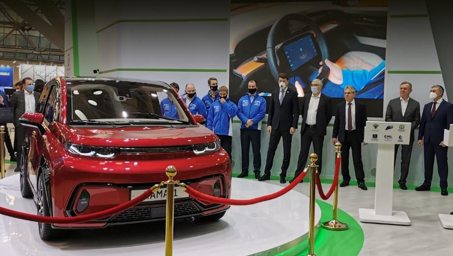 Прототип электрокара Кама-1 дебютировал в Москве