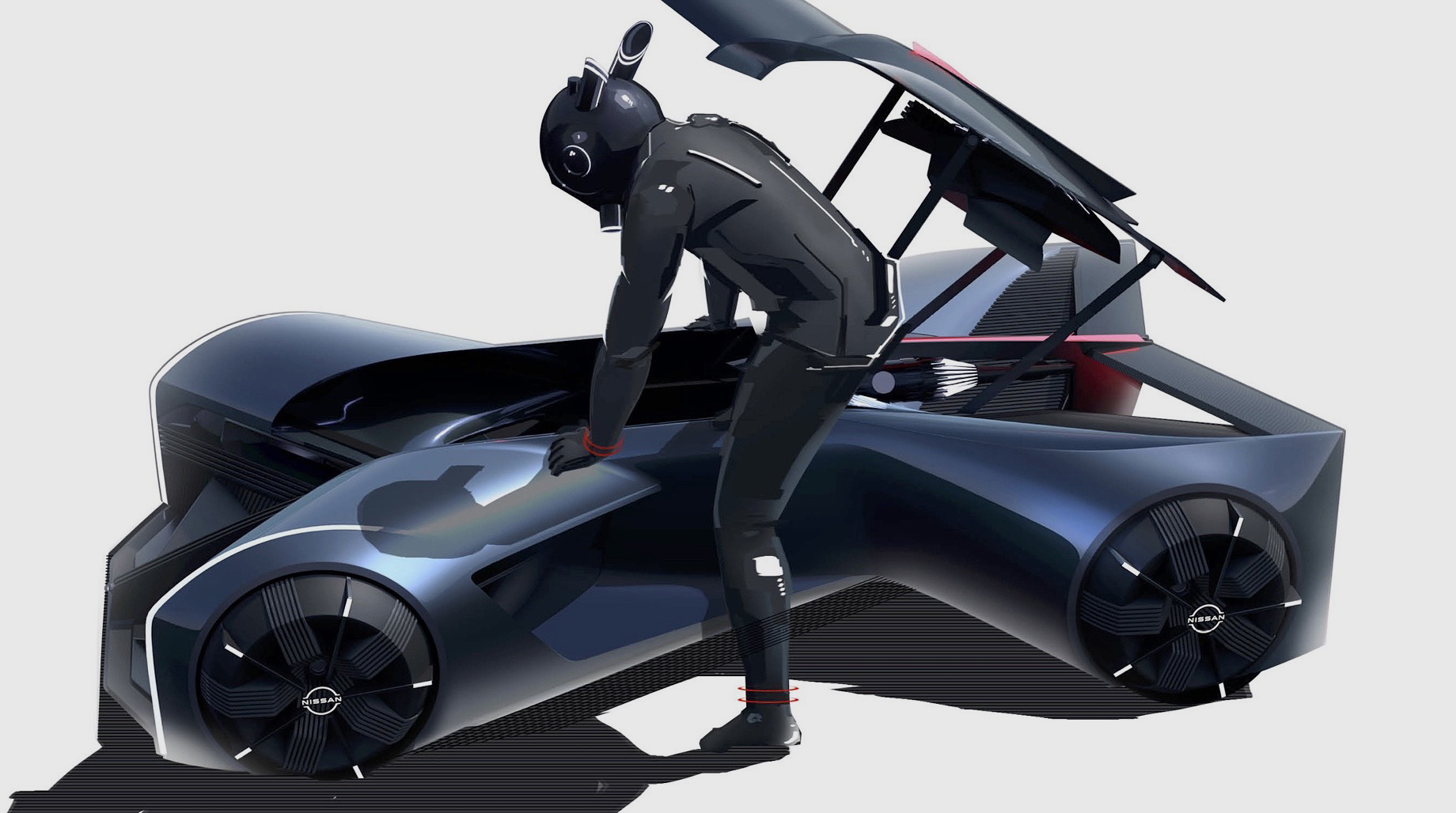 Батарейный концепт Nissan GT-R (X) заглянул в2050 год