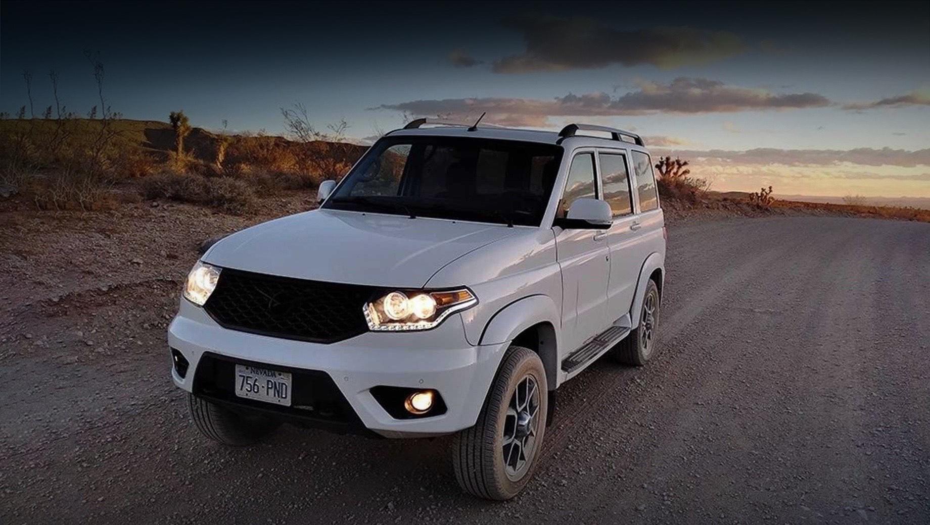 Uaz patriot,Uaz pickup. География продаж Ульяновского автозавода становится шире. Российские автомобили доступны не только в странах СНГ, но и в Евросоюзе, Южной Америке, Китае, Мексике, на Кубе и Ближнем Востоке. Старт продаж в США намечен на осень 2021 года.