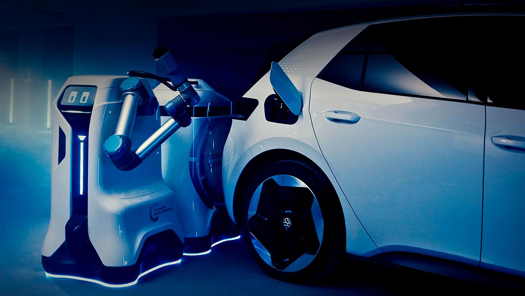 Volkswagen представил прототип зарядного робота