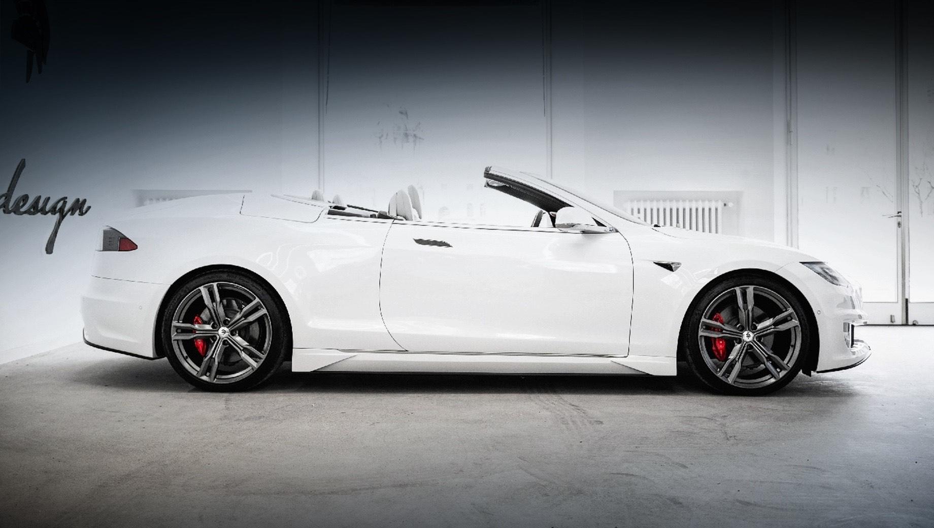Tesla Model S стала кабриолетом в ателье Ares Design