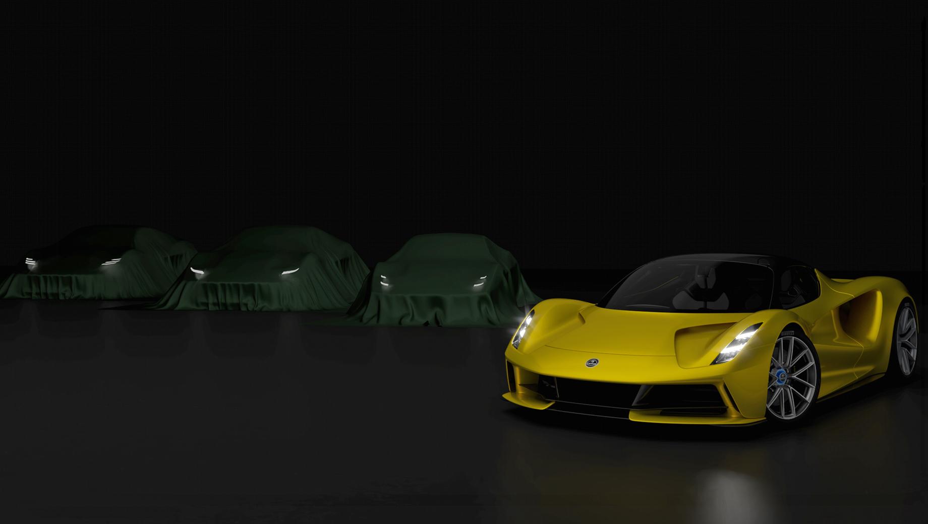 Lotus type 131,Lotus elise,Lotus exige,Lotus evora,Lotus esprit. Грядущее семейство двухдверок Lotus будет состоять из трёх машин, по всей видимости продолжающих стиль электрического гиперкара Evija. Или это три конфигурации по сути одной машины, отличающихся дизайном.