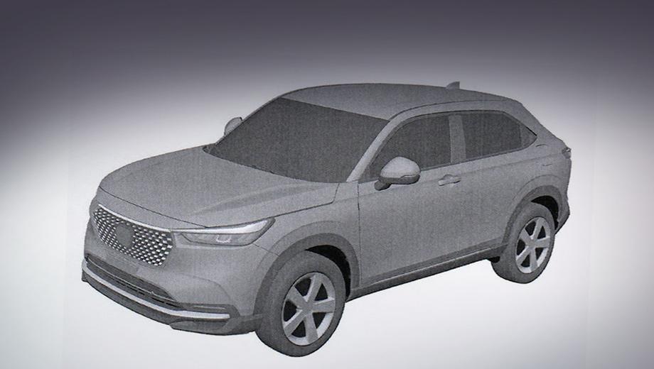 Новая Honda HR-V раскрыта на патентных изображениях