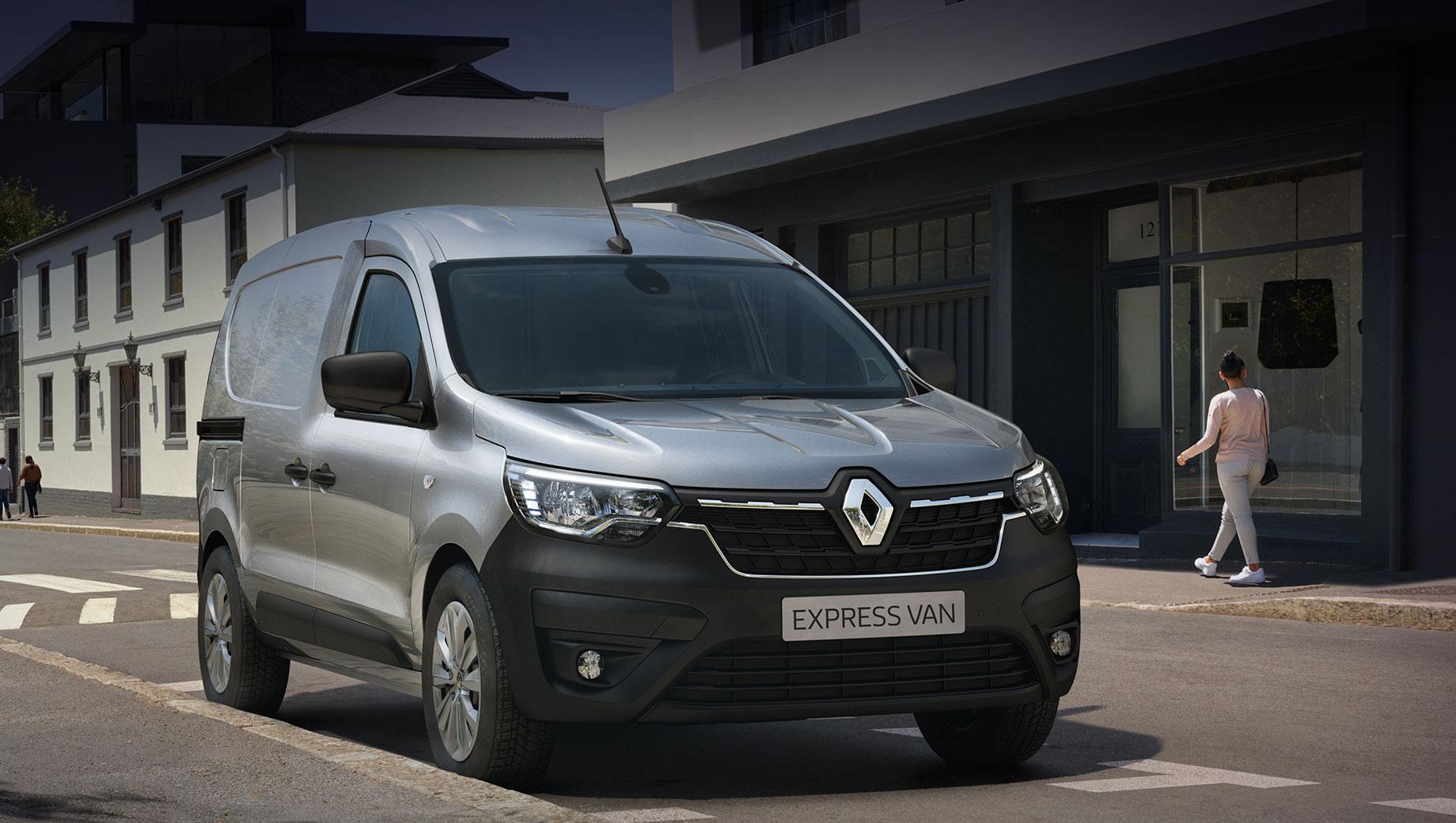 Renault express,Renault express van,Renault kangoo. По мнению Renault, фургон «отвечает основным потребностям профессионалов, ищущих наилучшее соотношение цены и качества, упрощает повседневную жизнь». Грузоподъёмность бензинового Экспресса — 780 кг, дизельного — 650. Предусмотрено пять цветов кузова.