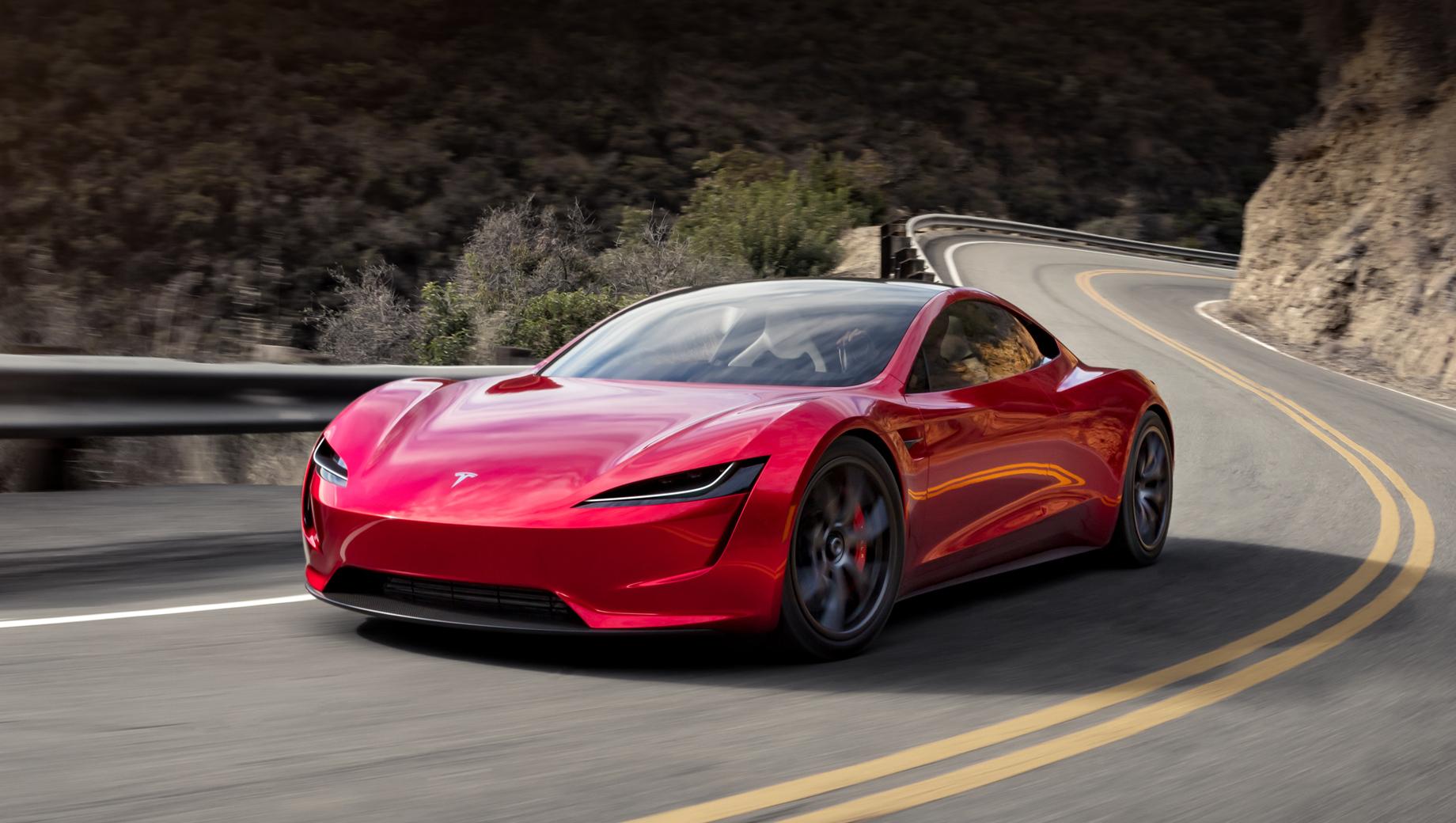 Tesla roadster. Прототип электрокара компания представила ещё в 2017 году, намечая запустить машину на поток в 2020-м.