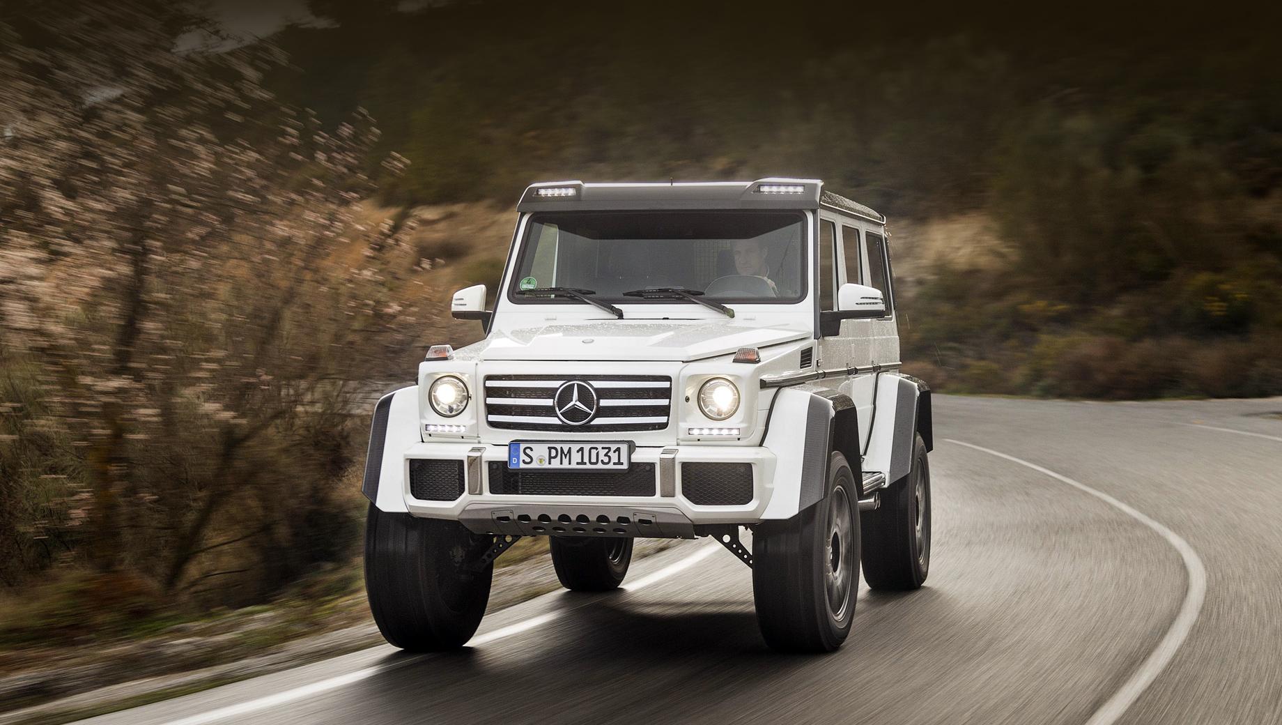 Mercedes g,Mercedes g 4x4. Прошлый G 500 4×4² (2015–2017 годы, на фото) был самой экстремальной внедорожной версией Гелендвагена, не считая шестиколёсного G 63 AMG 6x6, который в 2013–2015 годах был выпущен тиражом чуть выше сотни штук.