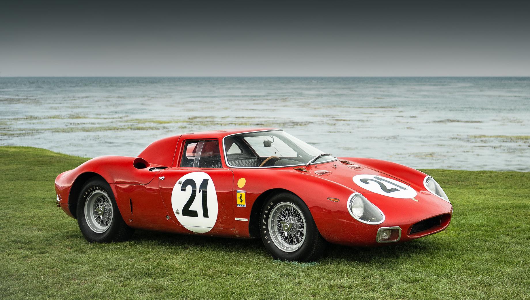 Ferrari lmh. Последняя машина Ferrari, побеждавшая в «24-часах Ле-Мана» в общем зачёте: 250 LM с 323-сильным мотором V12 3.3, шасси 5893, бортовой номер 21.