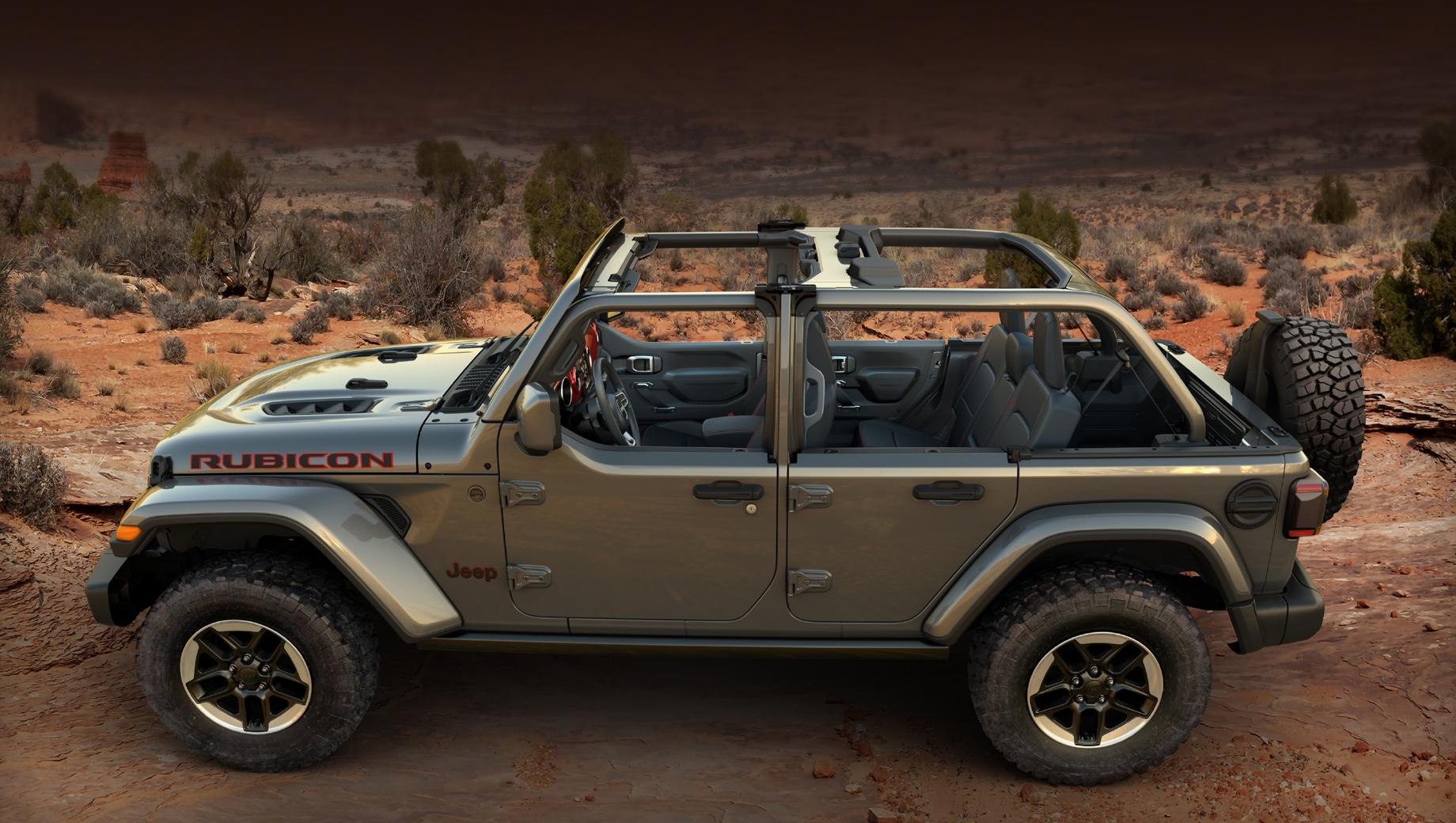 Внедорожник Jeep Wrangler получил двойной комплект дверей