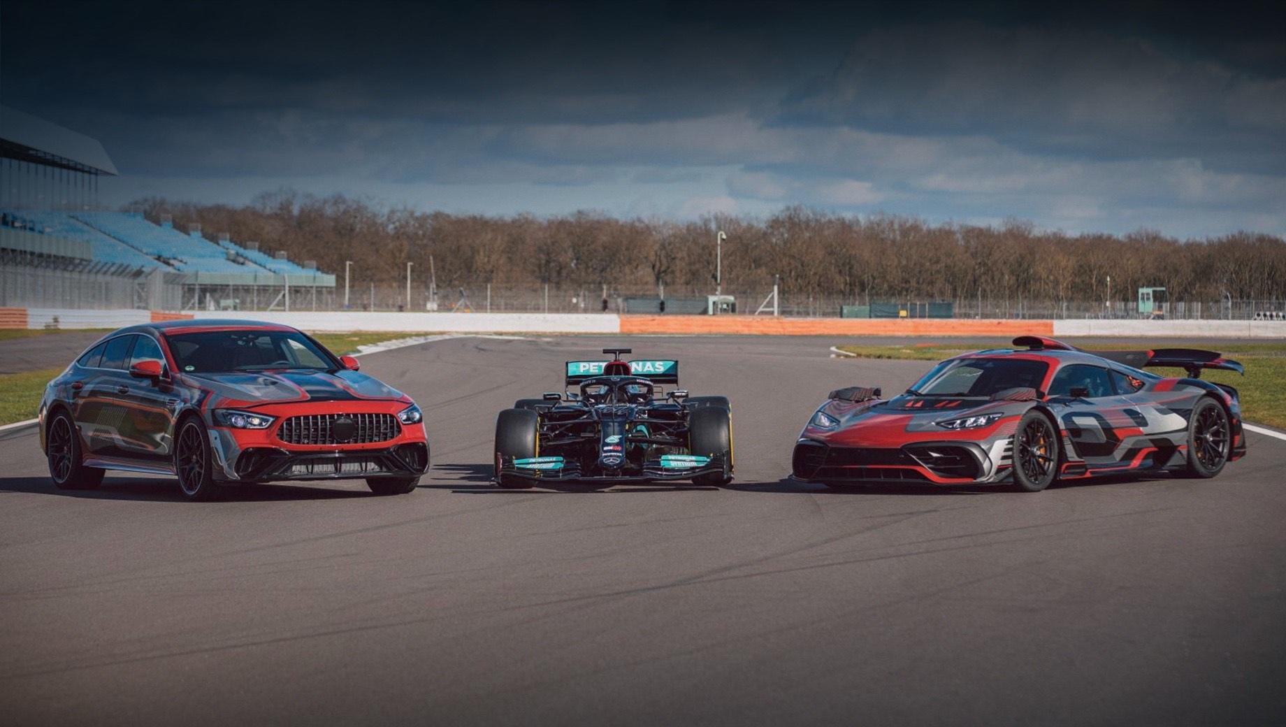 Mercedes-AMG GT 73 засветился на презентации гоночного Мерседеса