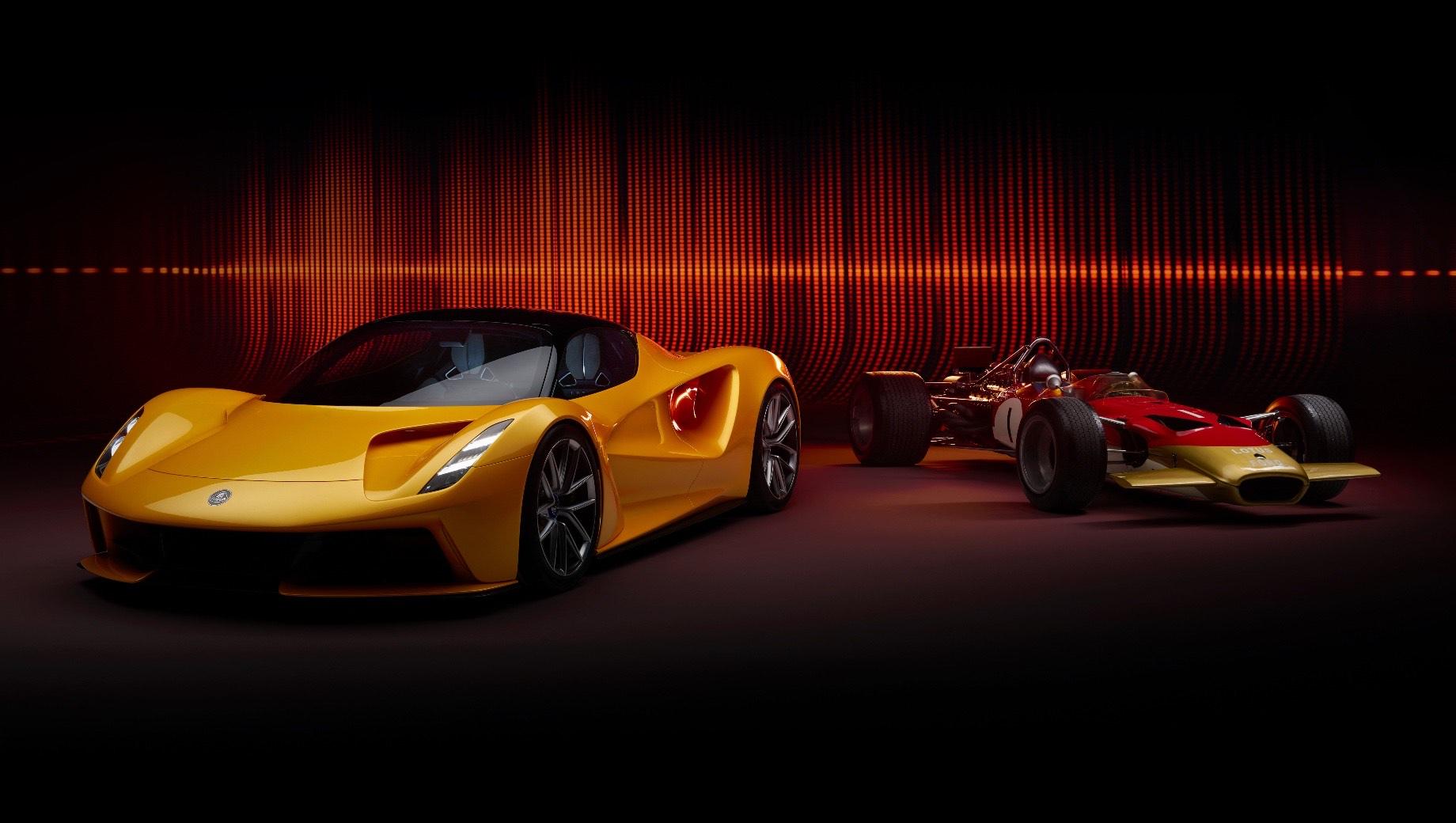 Lotus evija. Суммарная отдача четырёх электромоторов купе Lotus Evija составляет 2027 л.с. и 1700 Н•м. Это позволяет разгонять автомобиль массой 1680 кг до 100 км/ч менее чем за три секунды, а максимальная скорость превышает 320 км/ч. Цена — от 1,7 млн фунтов (174 млн рублей).