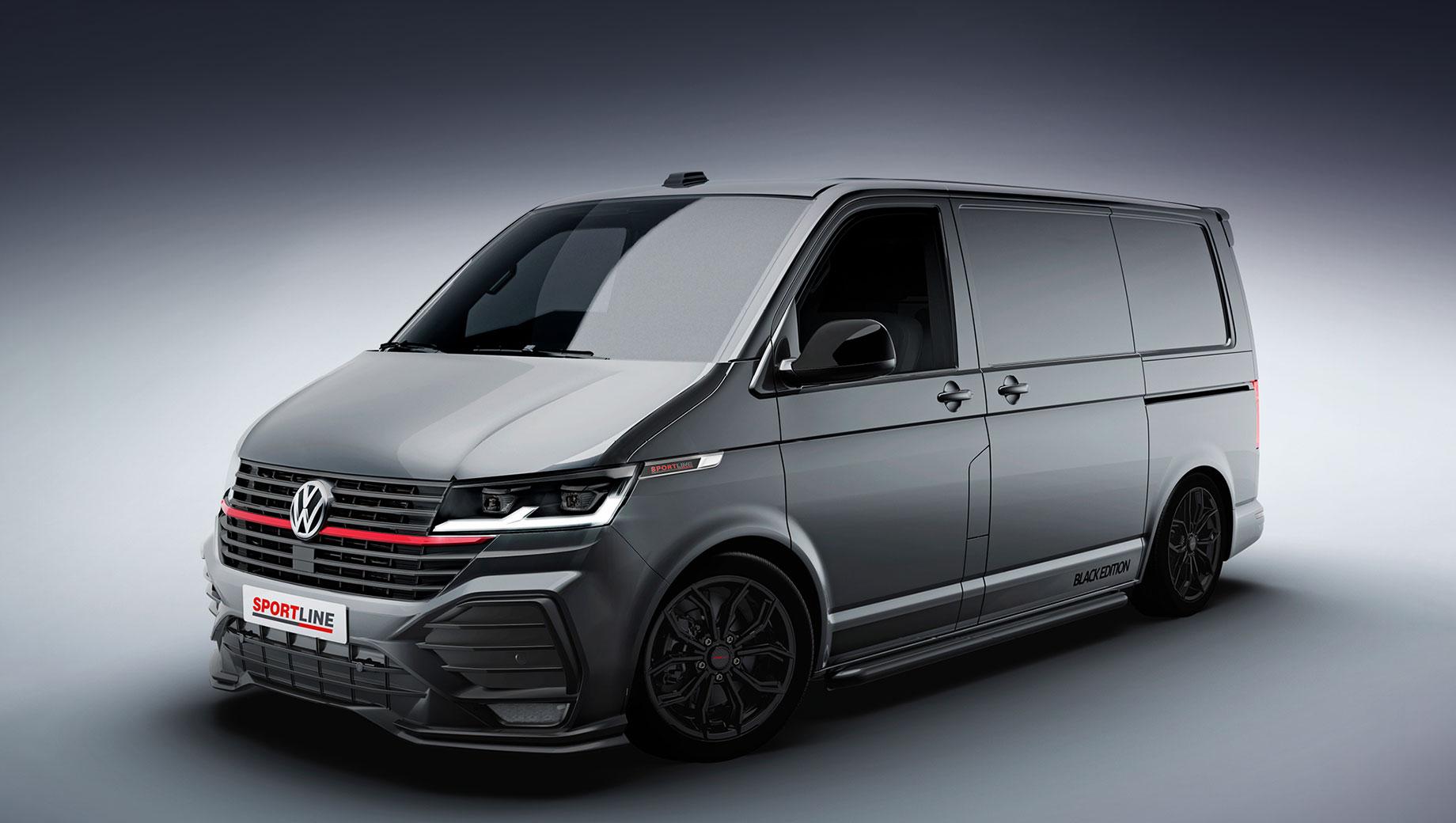 Фургон Volkswagen Transporter примерил гоночный стиль в Британии