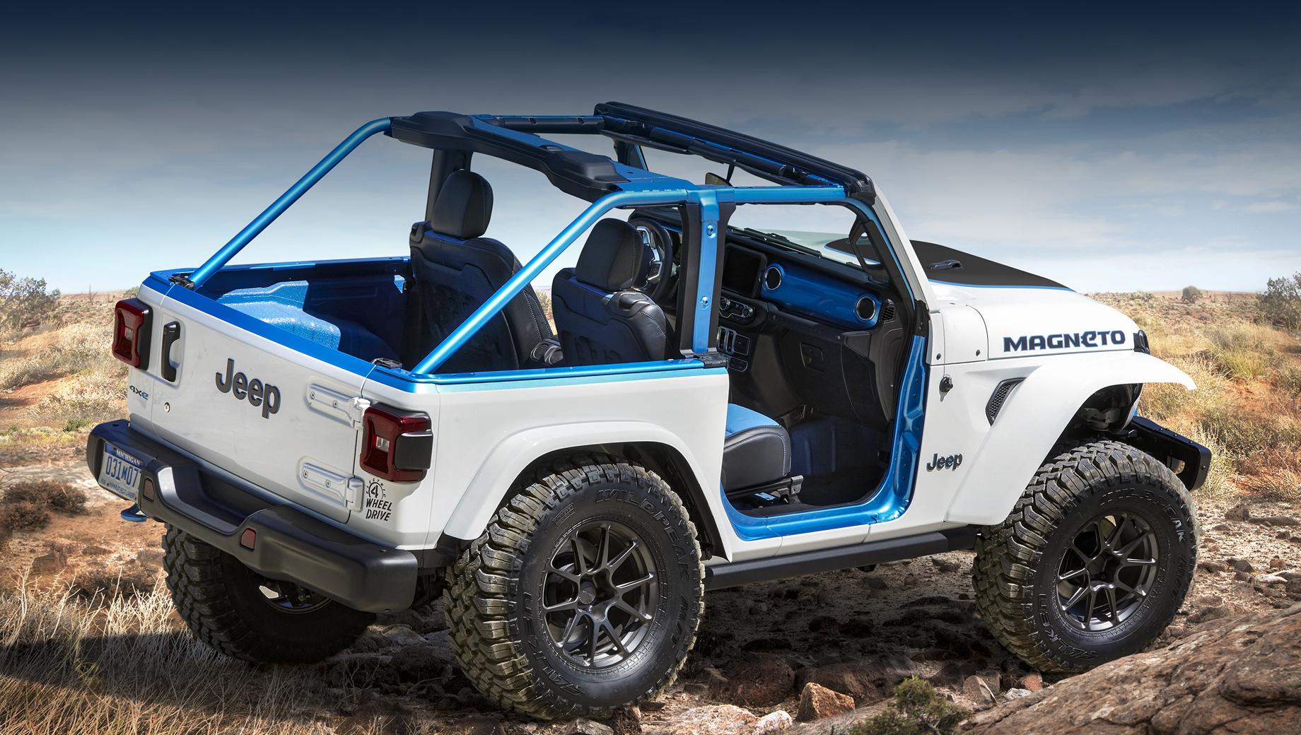 Шоу-кар Jeep Magneto предвосхитил электрическую вариацию Рэнглера