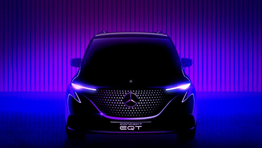 Mercedes eqt,Mercedes t. Прототип «первого премиального компактвэна» исповедует дизайнерскую философию Sensual Purity («Чувственная чистота»), ключевыми элементами которой считаются «эмоции и интеллект».