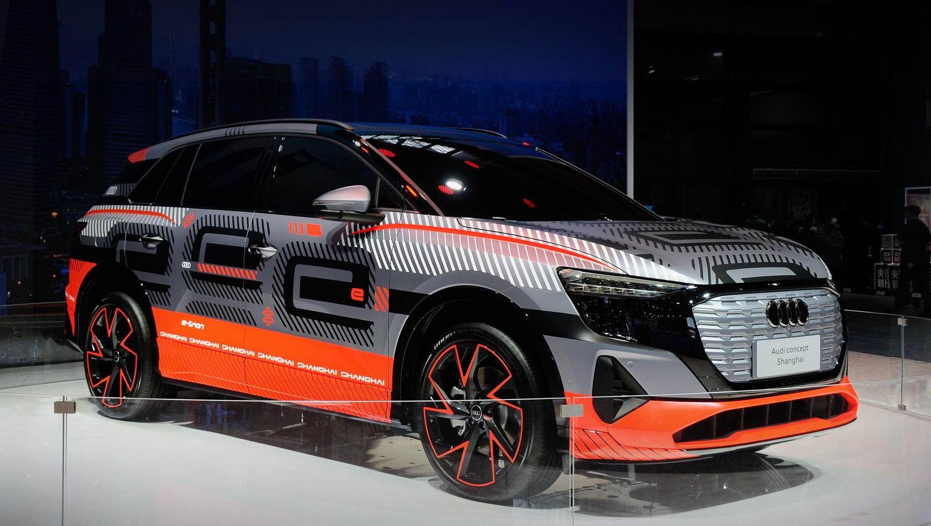 Audi concept Shanghai анонсировал трёхрядный электрокар