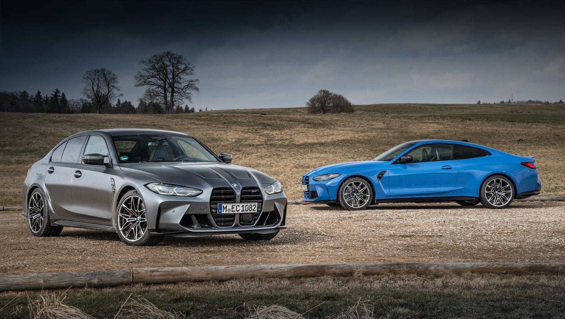 Bmw m3,Bmw m4,Bmw m3 xdrive,Bmw m4 xdrive. BMW M3 и M4 с приставкой xDrive весят 1780 и 1775 кг соответственно, но ускорение до сотни у обоих занимает впечатляющие 3,5 с. Максимальная скорость ограничена на 250 км/ч, но в топ-исполнении M Special Pro (углепластиковые сиденья и пакет M Driver's Package) показатель увеличится до 290 км/ч.
