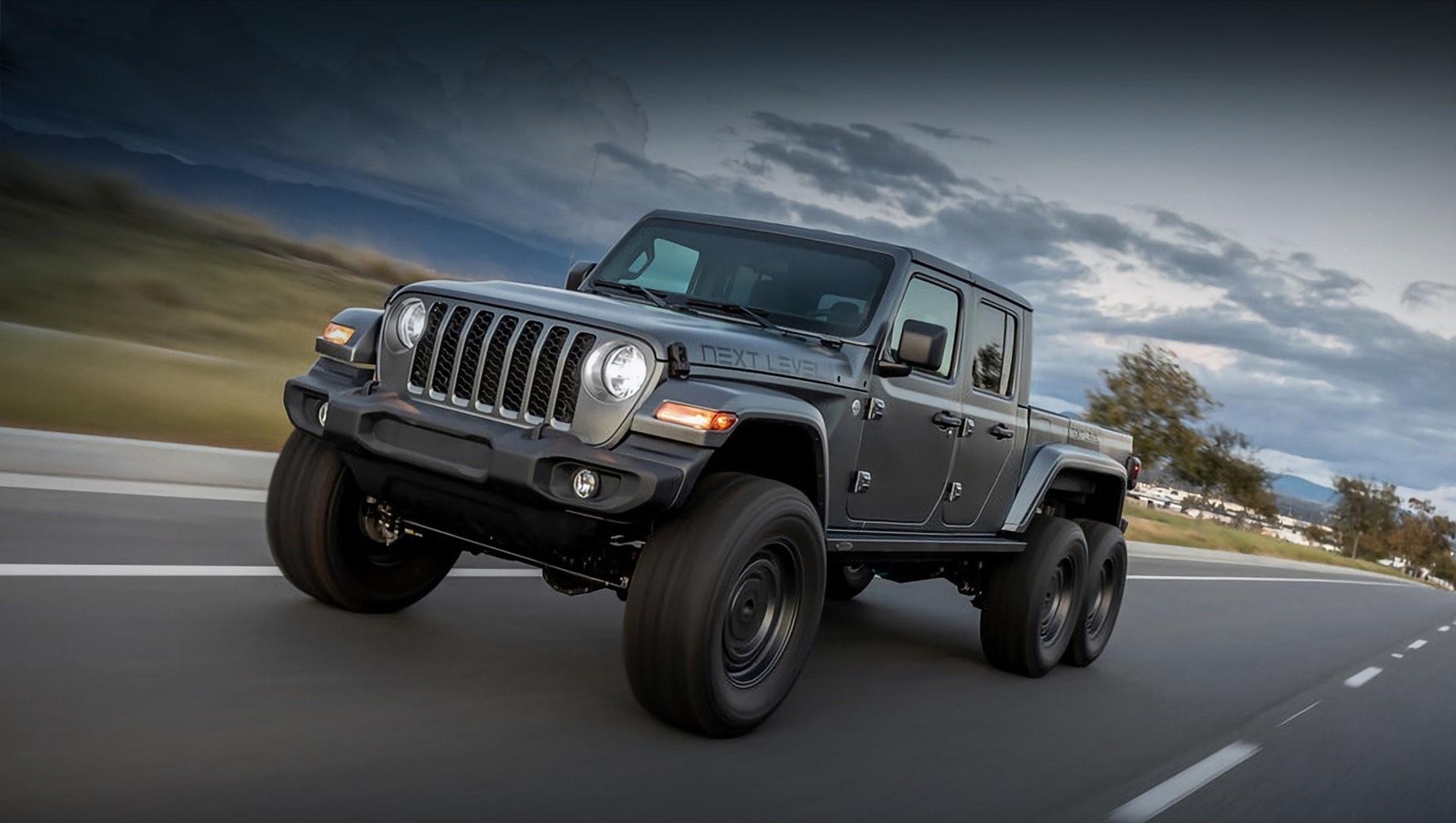 Пикап Jeep Gladiator раздобыл третью ось в ателье Next Level