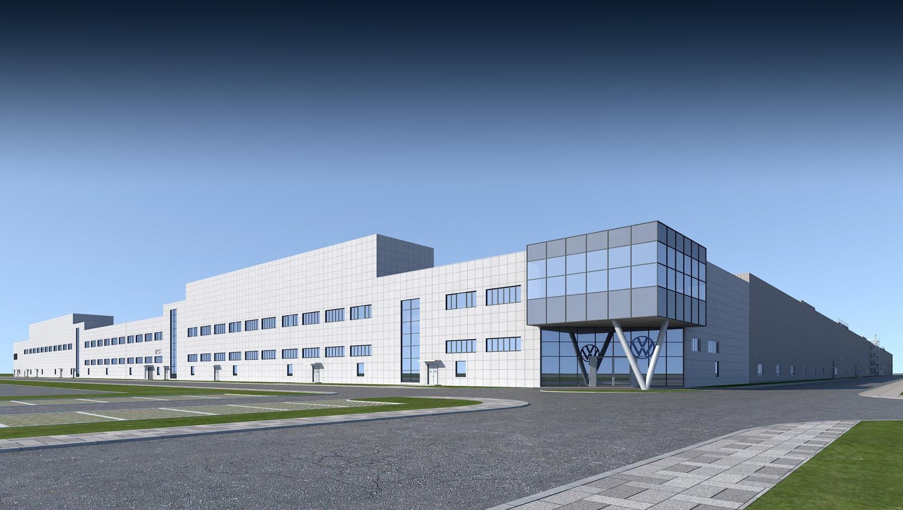 Volkswagen id 2. Предприятие на 500 000 м² с техническим центром и сопутствующими объектами должно получать энергию из возобновляемых источников. Проект предусматривает расширение и переоснащение бывшего завода JAC, перешедшего под контроль VW, плюс новый кузовной цех.