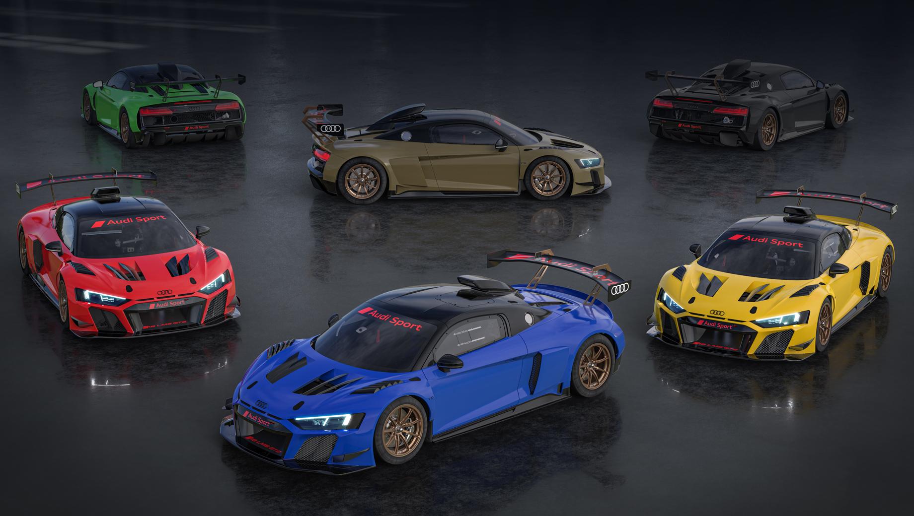 Audi r8,Audi r8 lms gt2. Audi R8 LMS GT2 использует атмосферник V10 5.2 (640 л.с., 550 Н•м), семиступенчатый «робот» и задний привод. При сухой массе 1350 кг GT2 более чем на центнер легче не только полноприводной «эр-восьмой», но даже легче дорожного R8 RWD, и это при каркасе и аэродинамическом обвесе.