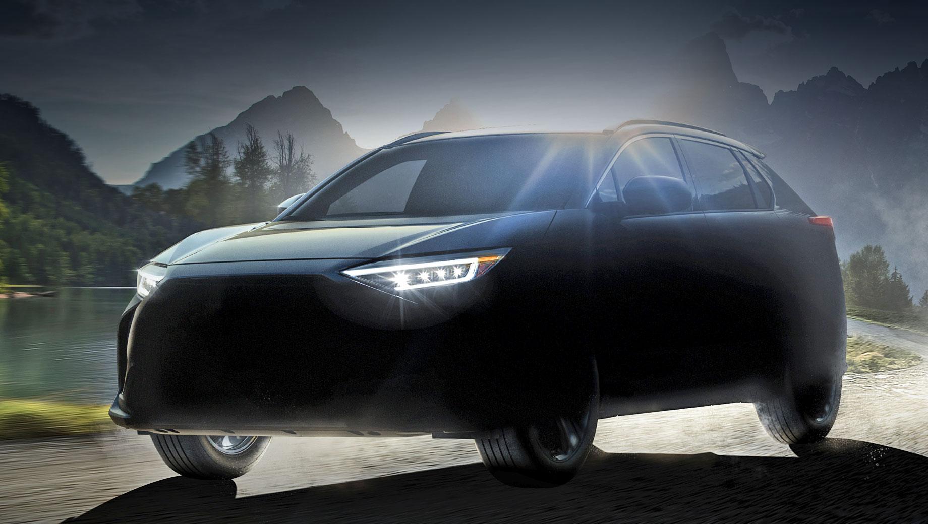 Subaru solterra. «В этой разработке Subaru и Toyota объединяют свои сильные стороны, такие как полный привод Subaru и технологии электрификации Тойоты, чтобы создать новый кроссовер с характеристиками, которые может предложить только электромобиль», —  подчёркивают партнёры.