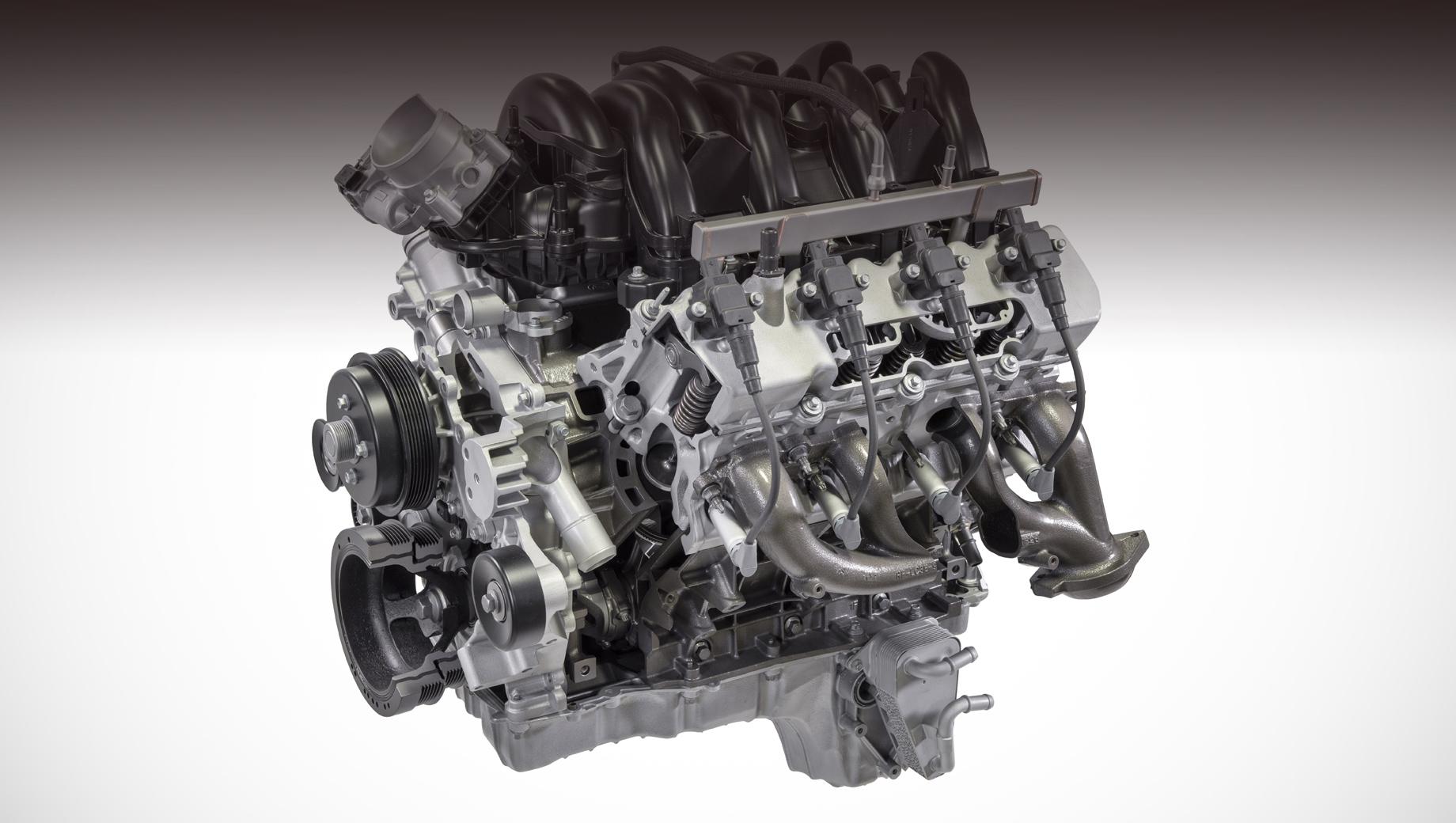 Ford super duty,Ford f-250,Ford f-350,Ford f-450. В исходном атмосферном варианте нижневальный агрегат с чугунным блоком V8 7.3 выдаёт до 436 л.с. и 644 Н•м (есть также версии с меньшей отдачей). Время дебюта наддувного исполнения не раскрыто.