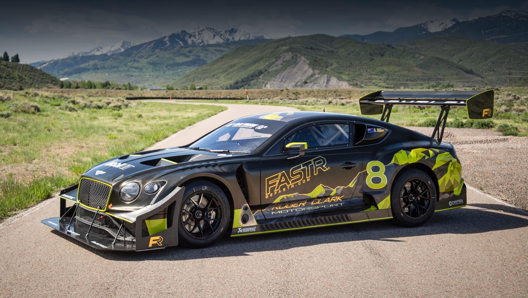 Bentley continental gt3,Bentley continental gt3 pikes peak. Поведёт этот аппарат в бой 27 июня новозеландский гонщик Рис Миллен, трёхкратный победитель «Гонки в облаках», не раз выступавший в Колорадо, в том числе на машинах Bentley. В проекте приняли участие британская клиентская команда Fastr и британская фирма M-Sport.