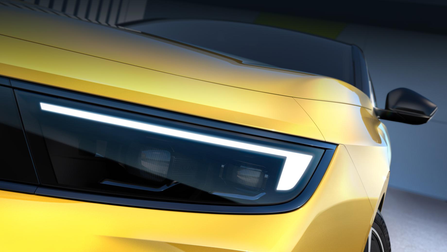 Opel astra. Носовая часть развивает дизайнерскую идею Opel Vizor, использованную, к примеру, в Мокке или в рестомоде Manta GSe ElektroMOD.
