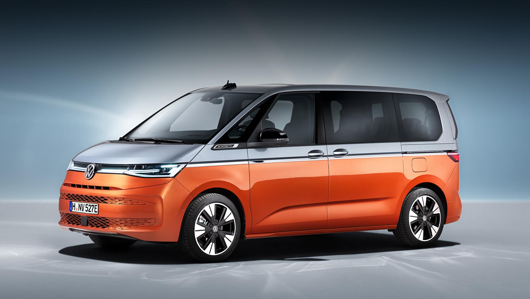 Volkswagen t7,Volkswagen multivan,Volkswagen transporter. Микроавтобус седьмого поколения представлен в варианте Multivan eHybrid.