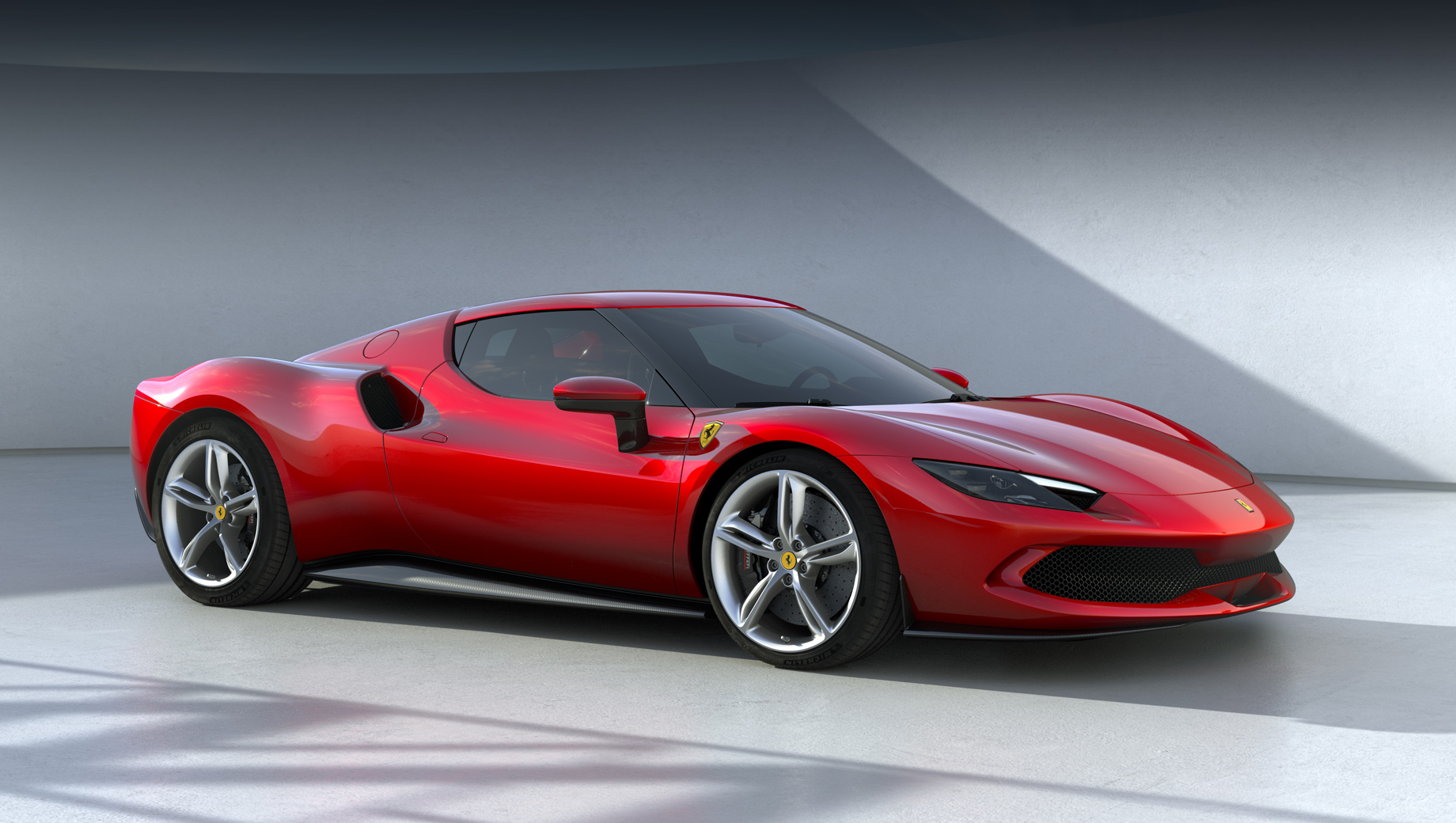 Ferrari 296 gtb. По стилю тут можно найти отсылки к другим Ferrari из актуальной модельной линейке, и всё же этот автомобиль оригинален. Отметьте, кстати, лаконичность образа.