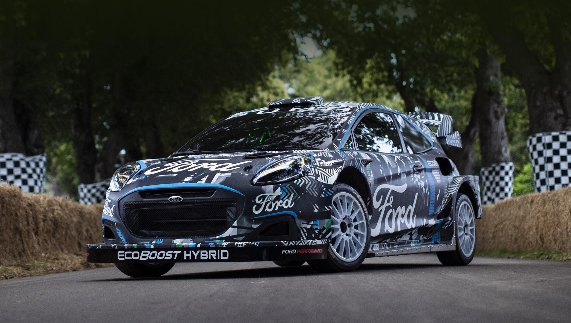 Ford puma,Ford puma rally1. Авторы модели говорят, что вся её гибридная система в сумме с жидкостным и воздушным охлаждением тянет на 95 кг. Первый образец послужит тестовым прототипом при создании «боевых» экземпляров для следующего чемпионата.