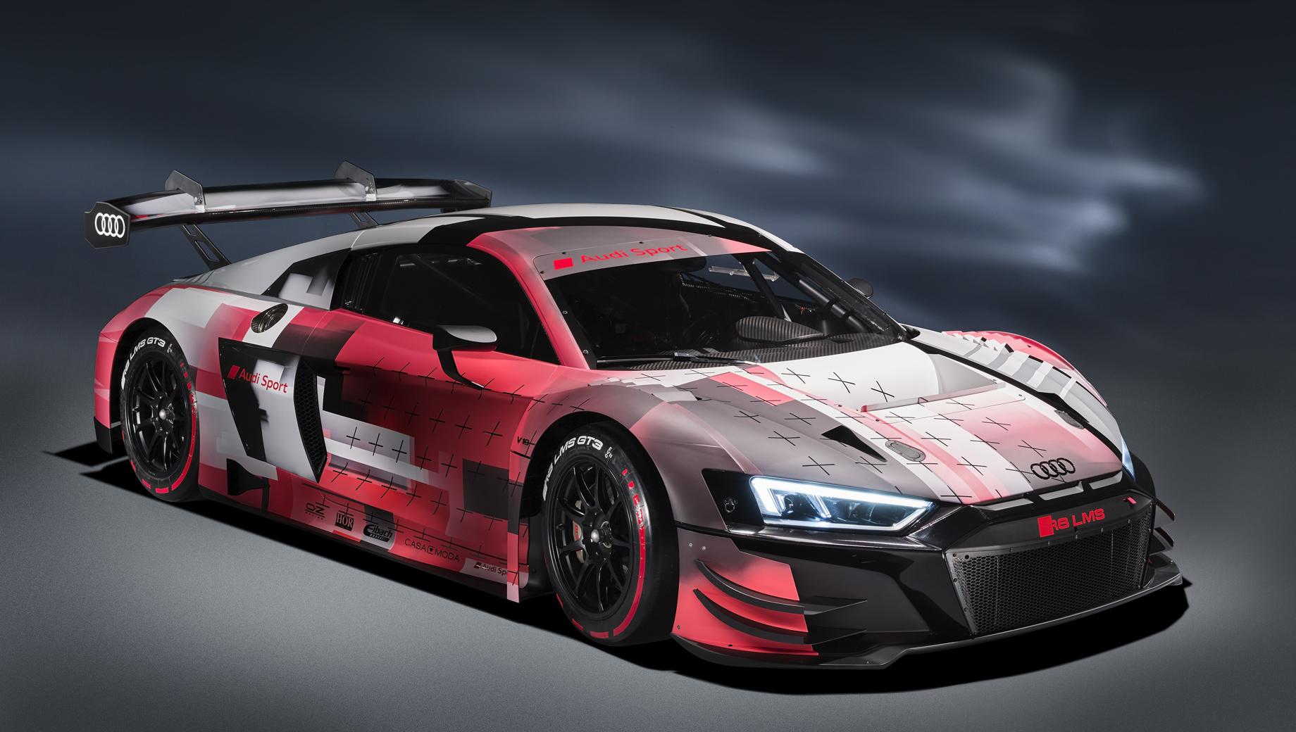 Audi r8,Audi r8 lms,Audi r8 lms gt3 evoii. Модель R8 LMS GT3 пребывает во втором поколении (первое было создано в 2009-м) и располагается в табели о рангах между гоночными собратьями R8 LMS GT4 и Audi R8 LMS GT2.