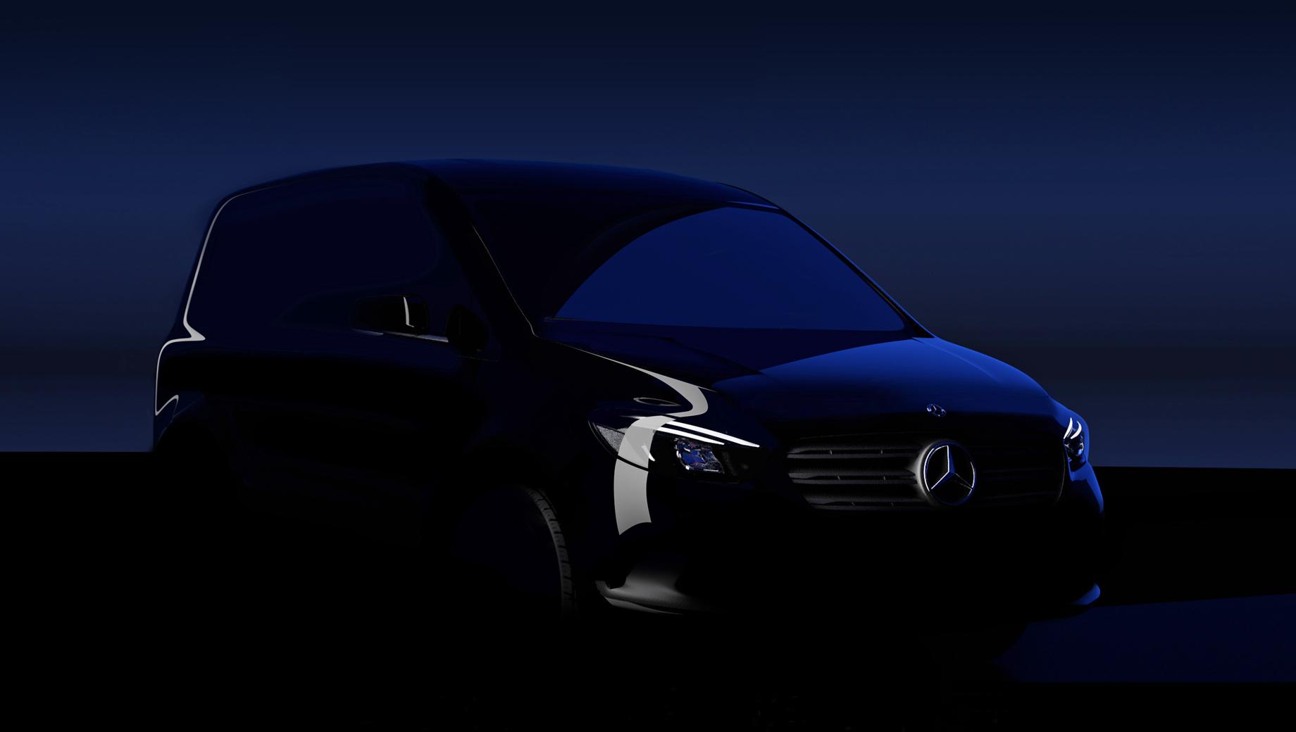 Mercedes citan,Mercedes ecitan,Mercedes t,Mercedes eqt. Тизер не позволяет рассмотреть многое, но обещаны широко открывающиеся сдвижные двери и низкая погрузочная высота, большая вариативность салона.