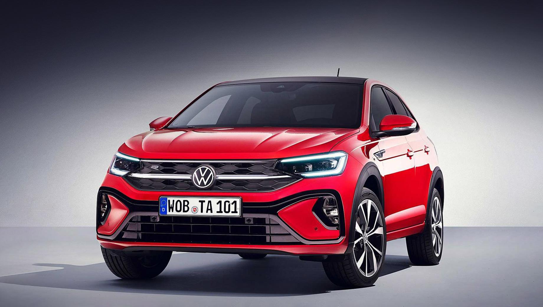 Volkswagen taigo. Платформа MQB-A0 роднит Taigo с моделями Polo, T-Cross, T-Roc. Размеры точно такие же, как у бразильского паркетника Nivus: 4266×1757×1493 мм, колёсная база — 2566. На всех фото показан Taigo с опциональным пакетом R-Line.