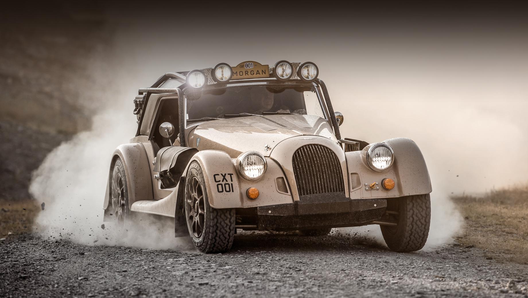Morgan plus four,Morgan plus four cx-t. Модель создана в кооперации с фирмой Rally Raid UK, известной по разработке машин для Дакара.
