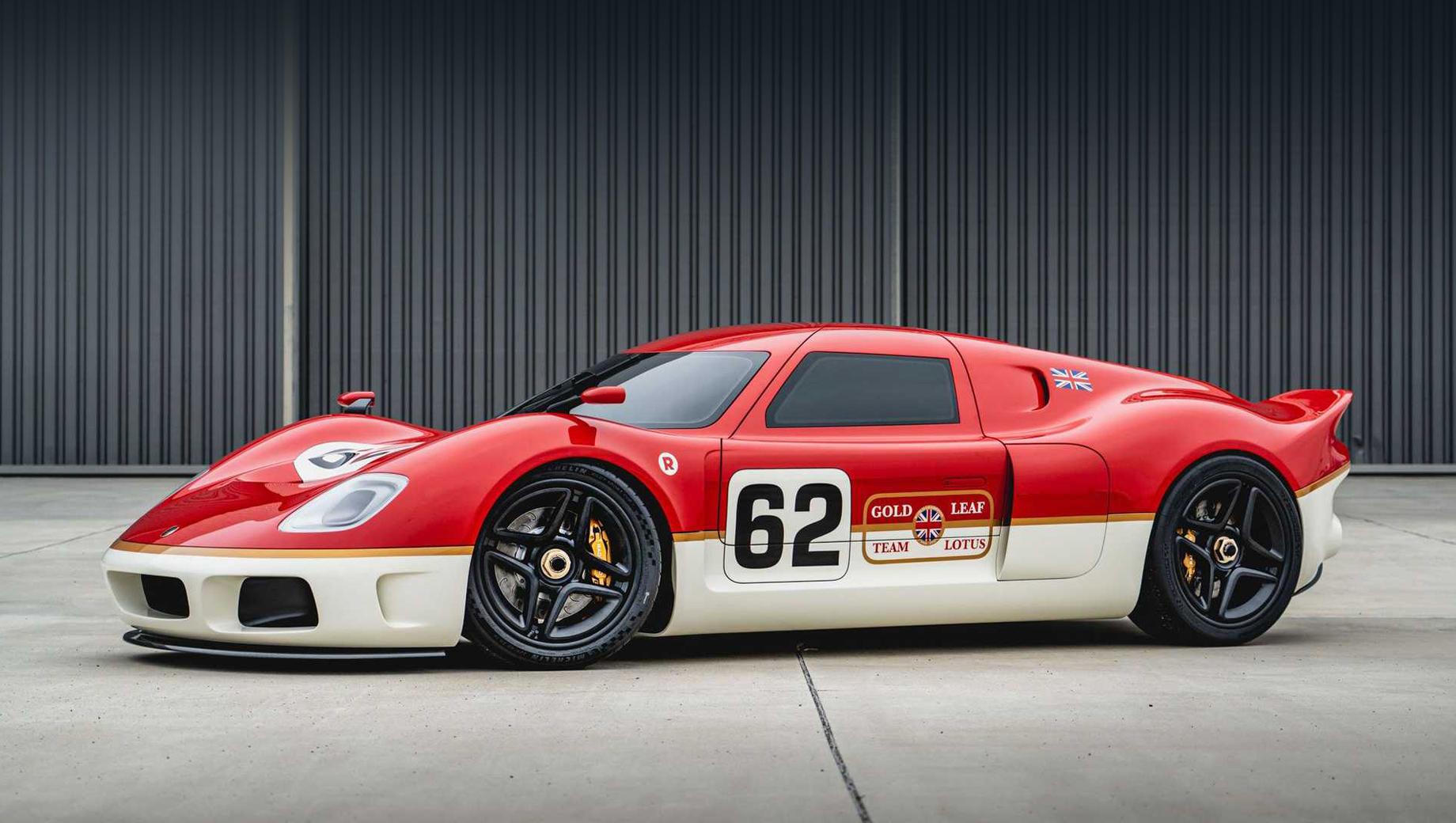 Lotus type 62. Современную реинкарнацию Лотуса 62 задумали и осуществили автомобильный телеведущий и дизайнер Ант Анстед, дизайнер Марк Стаббс и чемпион Формулы-1 2009 года британский гонщик Дженсон Баттон, а также бизнесмен Роджер Беле.